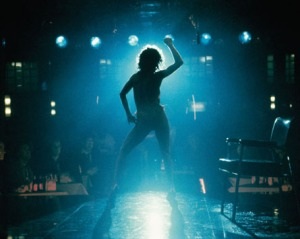 Backlit Alex from Flashdance