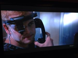 Jonny Lee Miller wears Google Glass in 1995 movie Hackers